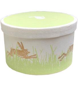 Osterschachtel mit schönem Hasendruck - Salon Elfi