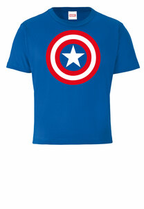 LOGOSHIRT - Marvel - Captain America - Shield - Logo - Kinder - Bio T-Shirt - LOGOSH!RT