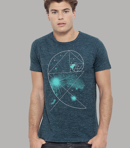 Shirt Men Dark Heather Denim 'Birdy Of The Universe' - SILBERFISCHER
