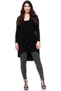 ADALIA figurschmeichelnde Jersey Jacke im Wickel-Look aus TENCEL (Modal) - Ingoria