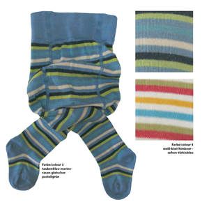grödo 2er Pack Bio Baumwolle Kinderstrumpfhose geringelt - grödo