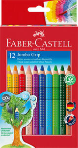 Buntstift Jumbo Grip 12er-Kartonetui - Faber-Castell