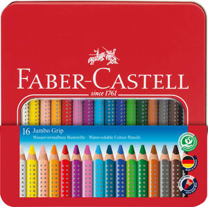 Buntstift Jumbo Grip 16er Metalletui - Faber-Castell