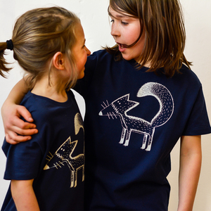 Kinder T-Shirt Franzi Fuchs navy - Cmig