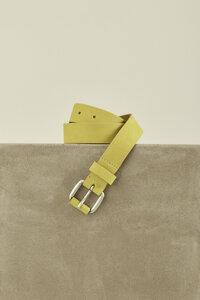 Jeansgürtel aus vegetabil gegerbtem Leder - LANIUS