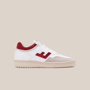 Sneaker Damen Vegan - RETRO 90's Sneakers - White Rouge Monocolor - Flamingos' Life