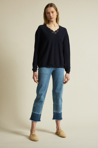 Boxy Pullover GOTS aus Bio-Baumwolle - LANIUS