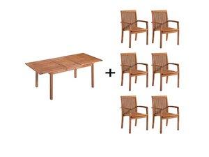 "Gartenmöbel-Set ""Enya"", 7-teilig, 6 Sessel, 1 Tisch - memo"
