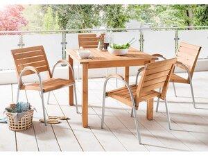 Gartenmöbel-Set 'Solano' 5-teilig, 4 Stühle, 1 Tisch 90 x 90 cm - memo
