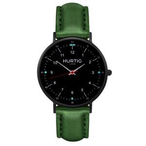 Moderno Veganes Leder Uhr Schwarz - Hurtig Lane