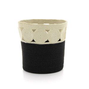 Korb Paper black, Jute und Baumwolle - GLOBO