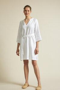 Kleid mit Gürtel aus Bio-Leinen - LANIUS