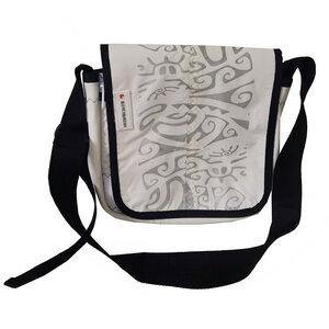 Kleine Messenger bag Schultertasche Size XS aus Kitesegel UNIKAT - Beachbreak