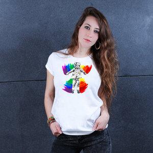 Angel Pride - Printshirt Frauen aus Biobaumwolle - Coromandel