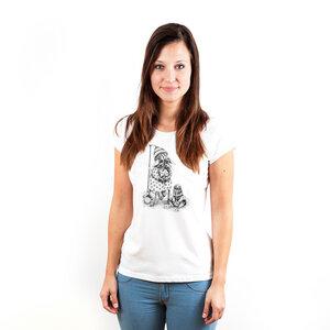 Angora Rabbit Mummy and Son - Frauenshirt aus Biobaumwolle - Coromandel