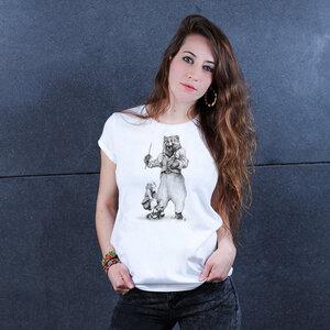 Circus Bear - Frauenshirt aus Biobaumwolle - Coromandel