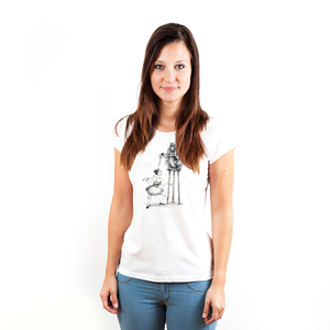 Circus Chimp - Printshirt Frauen aus Biobaumwolle - Coromandel