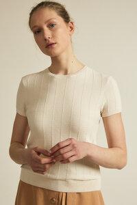 Kurzarmpullover GOTS aus Bio-Baumwolle - LANIUS