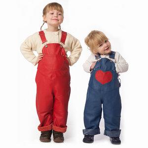 Latzhose / Matschhose / Buddelhose aus Leder für Kinder - Snekkerbuks