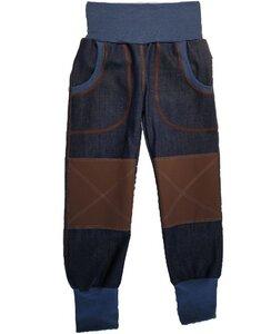 Mitwachs-Bio-Jeans mit braunen Cordura®-Knieflicken - Omilich