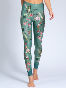 Yoga Leggings SECRET GARDEN aus Komfort-Stretch mit Tasche - Magadi