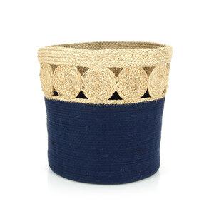Korb Paper blue, Jute/Baumwolle - GLOBO