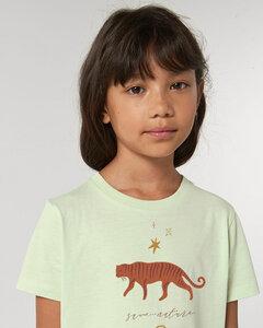 Reine Biobaumwolle weiches Shirt / Tiger Rainbow - Kultgut