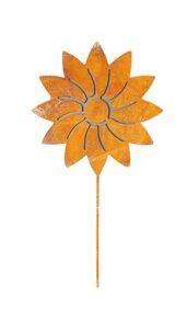 Pandas Garden | Große Edelrost Sonnenblume aus Metall | 38 x 20 cm | Gartendeko - Pandas Garden