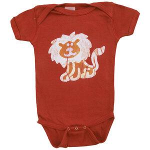 Baby Body - Löwe - Bio Baumwolle - Rot - Kurzarm - Global Mamas
