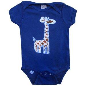 Baby Body - Giraffe - Bio Baumwolle - Blau - Kurzarm - Global Mamas