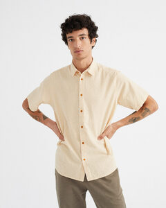 Hemd - Seersucker Tom Shirt - Gelb - thinking mu
