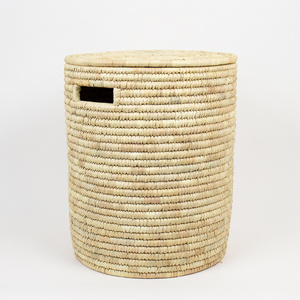 PALM Wäschekorb mit Deckel in 2 Größen - Afroart