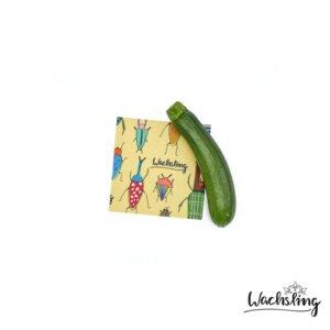 2er Set Handgemachte Bienenwachstücher klein Käferbande Beige - Wachsling