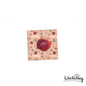 2er Set Handgemachte Bienenwachstücher klein Winterling Rosa - Wachsling