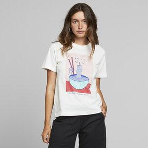 T-Shirt aus Bio Baumwolle - Mysen Noodle Off-White - Weiß - DEDICATED