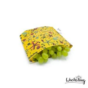 Bienenwachstuchbeutel klein Blumenwiese Gelb Wachsling - Wachsling