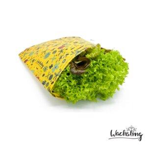 Bienenwachstuchbeutel mittel Blumenwiese Gelb Wachsling - Wachsling