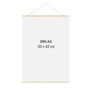 Posterleiste Holz 30 cm (DIN A4, DIN A3) - Sprintis