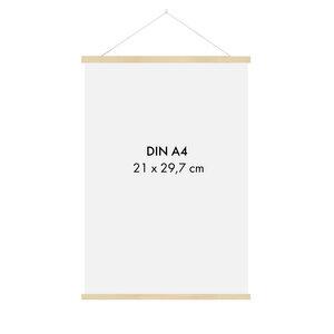 Posterleiste Holz 22 cm (DIN A5, DIN A4) - Sprintis