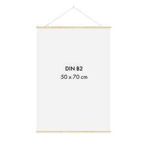 Posterleiste Holz 51 cm (für 50 x 70 cm Bilder - DIN B2) - Sprintis