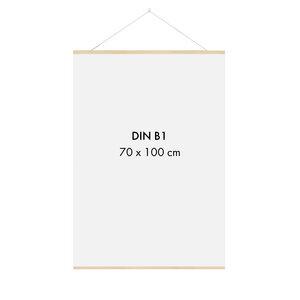 Posterleiste Holz 71 cm (für 70 x 50 cm und 70 x 100 cm Bilder - DIN B1, DIN B2) - Sprintis