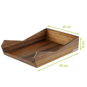 Brief-Ablage Din A4 Nussbaum-Holz natur geölt SKRIPT - NATUREHOME