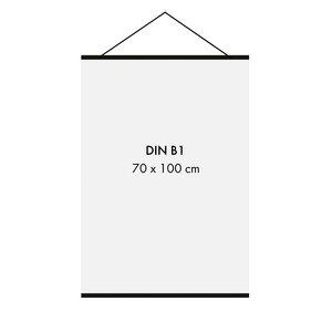 Posterleiste Holz 71 cm, schwarz (für 70 x 50 cm und 70 x 100 cm Bilder - DIN B1, DIN B2) - Sprintis