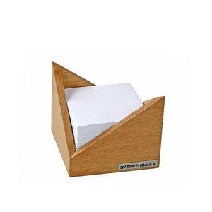 Zettelkasten Zettelbox 9,5 x 9,5 cm Buche natur geölt SKRIPT - NATUREHOME