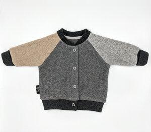 KAVI Babystrickjacke/Colorblock Cardigan (recycelte Wolle) - JIMMI WOW