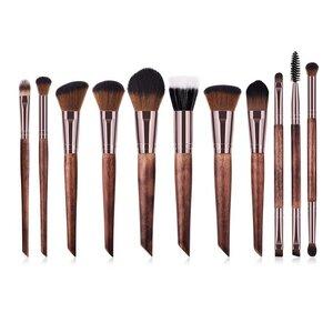 Vegane Make-up Pinsel Set - Holz und Rosé Gold - Hurtig Lane