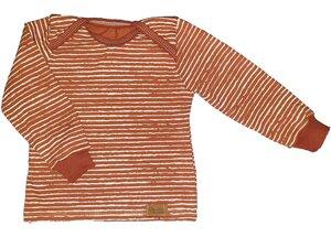 Babyshirt aus Biojersey weiße Streifen - Omilich