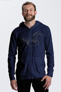 Herren Bio-Jersey-Zip-Hoodie Horsepower - Peaces.bio - Neutral® - handbedruckt