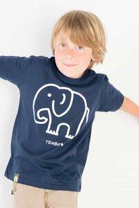 Tembo - Kleiner Elefant - Bio T-shirt für Kinder - Blau - Unisex - Maishameanslife