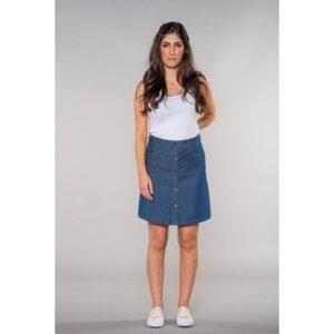 Sonia | A-shape Skirt | LightDenim - Feuervogl